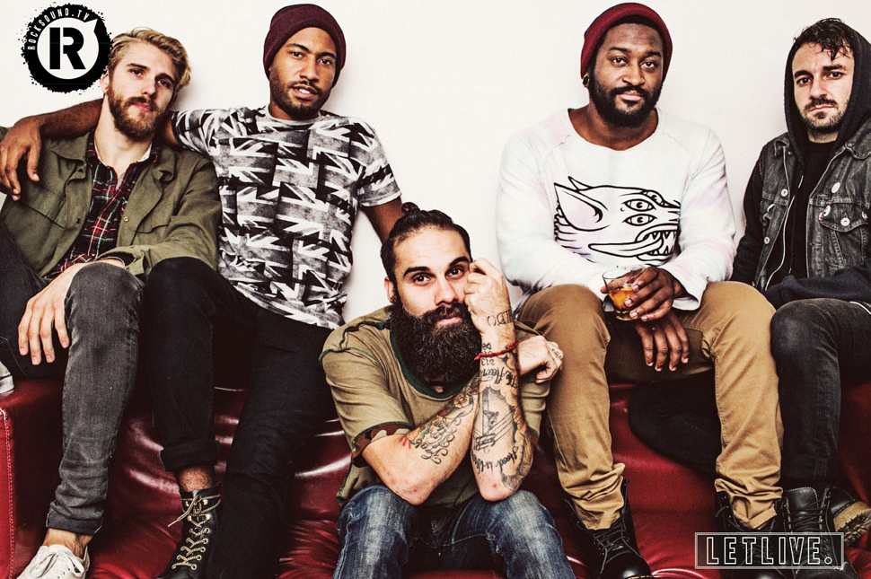 This letlive. poster is FREE with the latest issue of Rock Sound