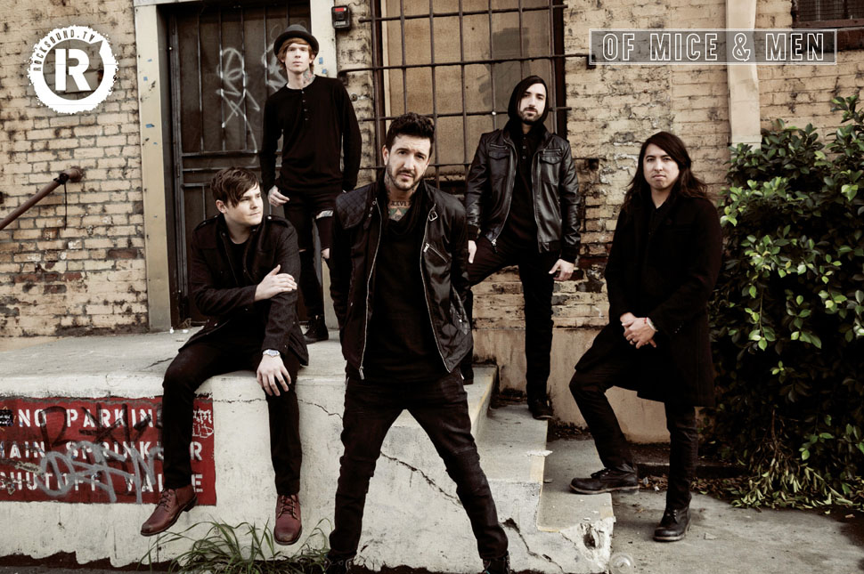 This Of Mice & Men poster is FREE with the latest issue of Rock Sound
