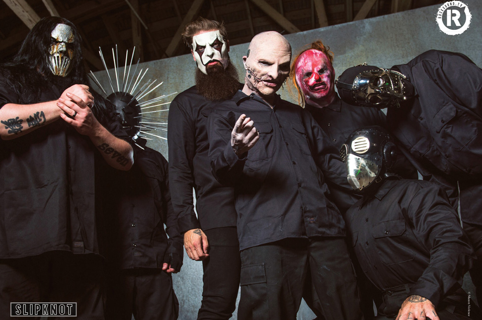 This Slipknot poster is FREE with the latest issue of Rock Sound