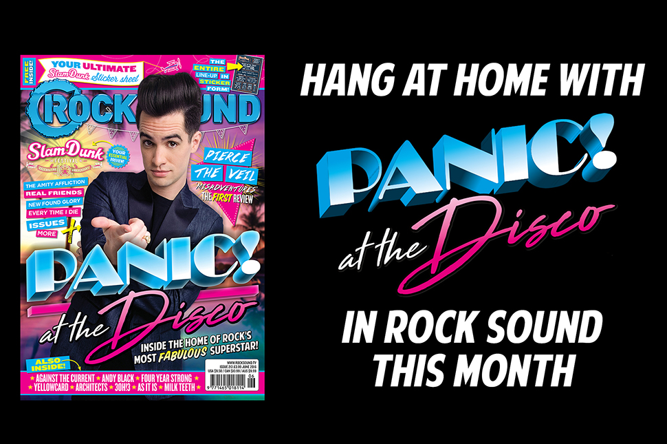 Panic! At The Disco's Rock Sound magazine is available worldwide!