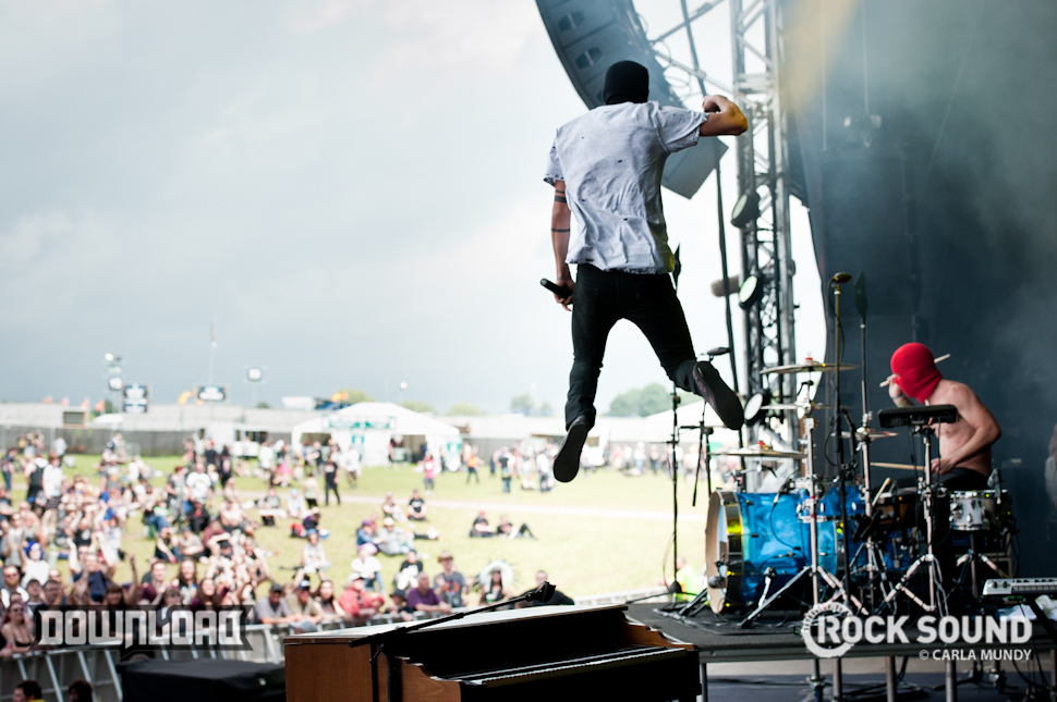 21 Pilots defying gravity. Can you do this? We can't.