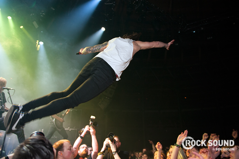 Blessthefall at Camden's Roundhouse, March 14, 2015 // Photo credit: Ben Gibson