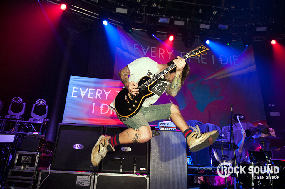 Every Time I Die at Camden's Roundhouse, March 14, 2015 // Photo credit: Ben Gibson