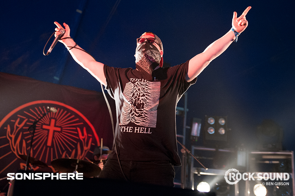 The Hell, Sonisphere 2014. Shot for Rock Sound by Ben Gibson.