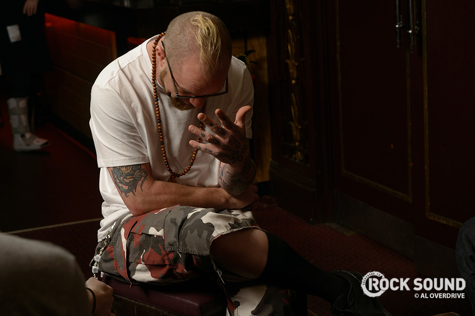 Behind The Scenes on our In The Firing Line feature with Five Finger Death Punch / Photo credit: Al Overdrive