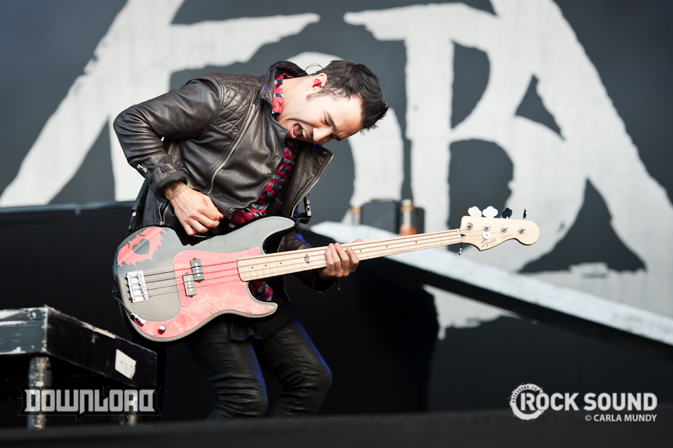 Pete Wentz headbutting an invisible wall.