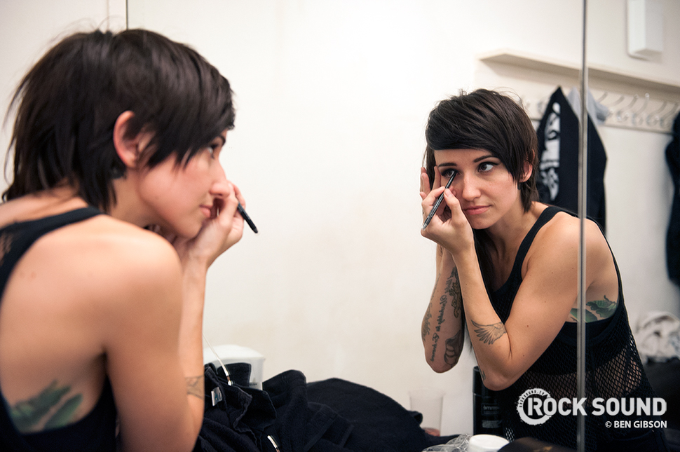 Lights getting ready for her show at London's Scala, January 29, 2015 // Photo credit: Ben Gibson