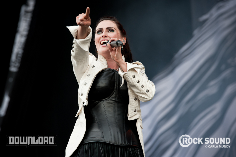 and finally... Within Temptation's Sharon den Adel: