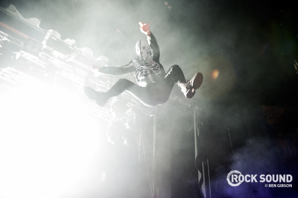 ...and Tyler Joseph brought his big bag of theatrics along with him. Look at that jump! Just look at it!