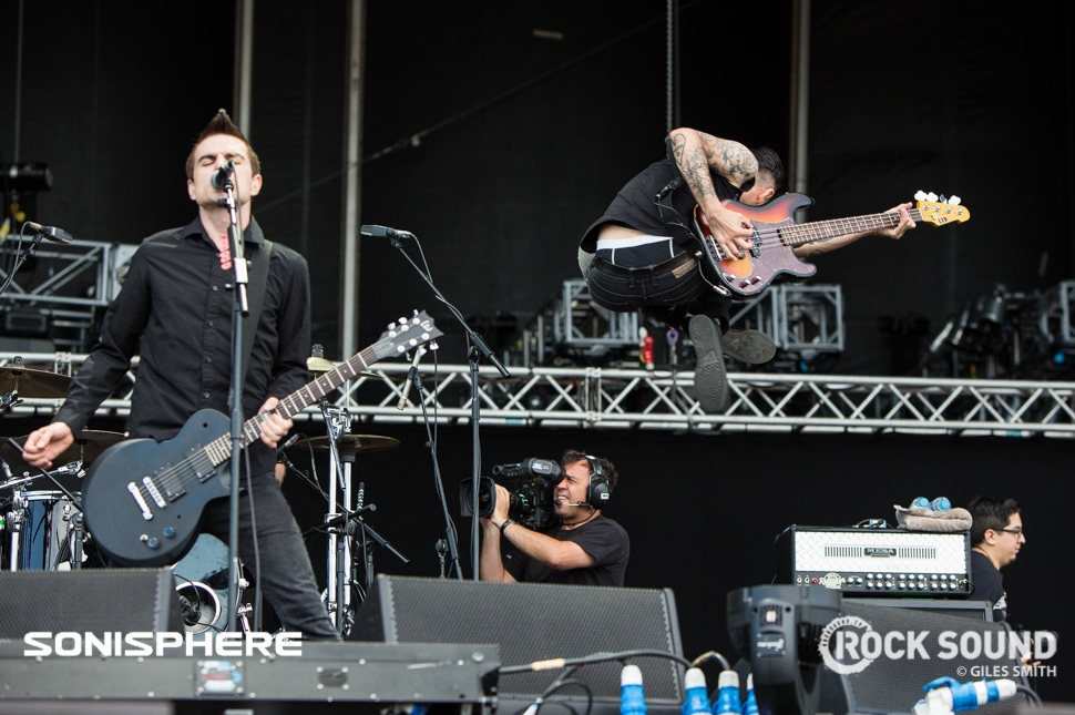 Anti-Flag, Sonisphere 2014. Shot for Rock Sound by Giles Smith.