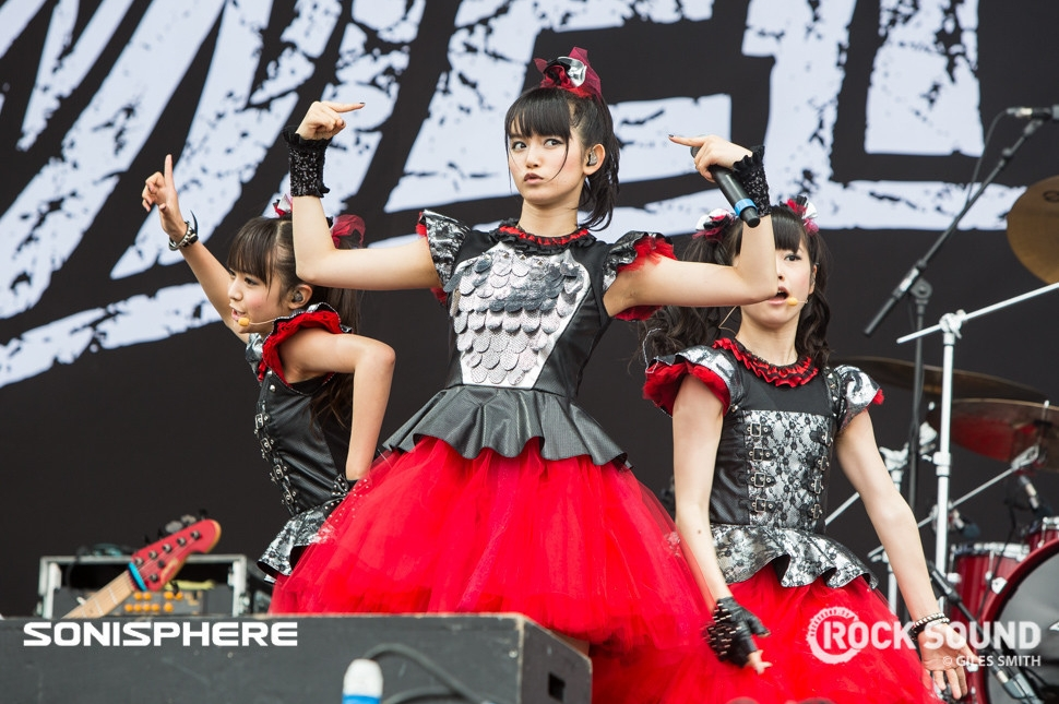 The Japanese phenomenon BABYMETAL make their UK debut at Sonisphere. Shot for Rock Sound by Giles Smith.