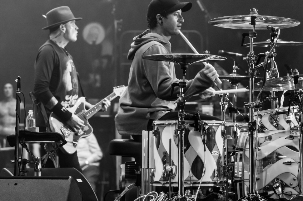 blink-182 & Josh Dun, The Forum, Los Angeles, August 08 // Photo: Daniel Rojas