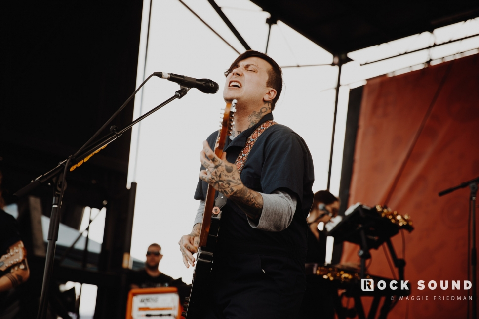Frank Iero, Warped Tour, Atlantic City, June 30 // Photo: Maggie Friedman
