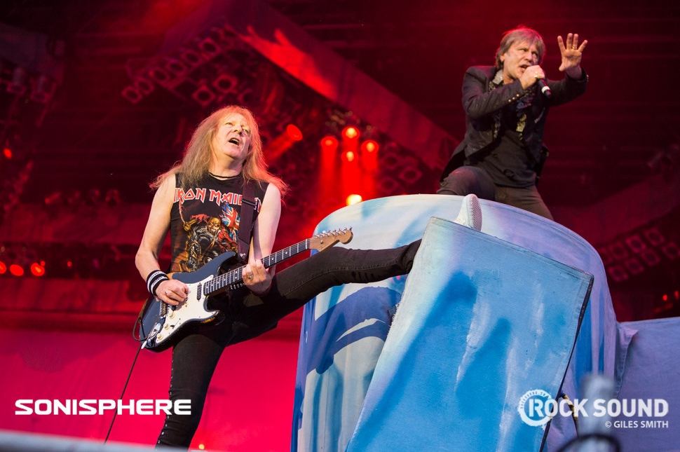 Iron Maiden, Sonisphere 2014. Shot for Rock Sound by Giles Smith.