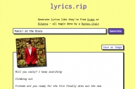 This Website Makes A Song Out Of All Of A Band's Lyrics