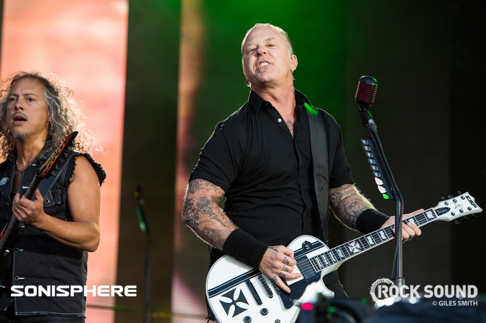 Metallica, Sonisphere 2014. Shot for Rock Sound by Giles Smith.