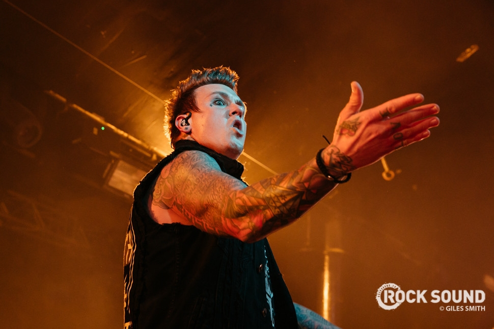 Papa Roach playing at Nottingham's Rock City, March 18, 2015 // Photo credit: Giles Smith