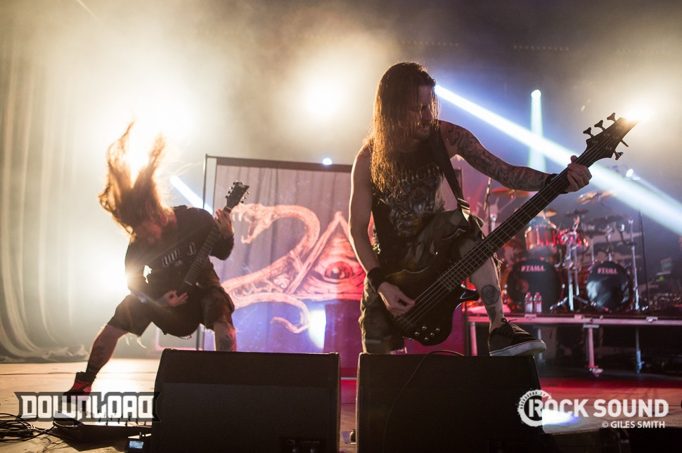 Suicide Silence return to Download in triumphant style. Unforgettable.