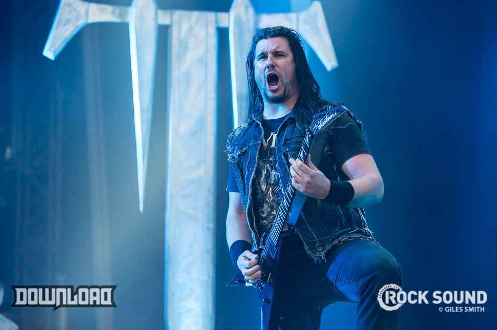 Trivium at Download Festival 2014.