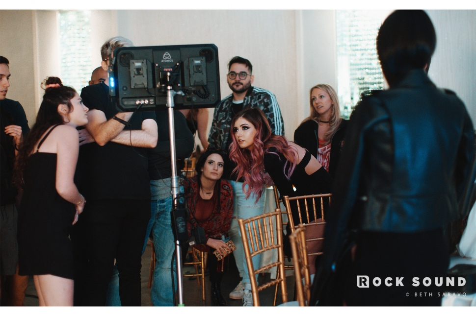 Against The Current, 'The Fuss' Video Shoot // Photo credit: Beth Saravo