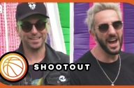 All Time Low's Alex Gaskarth And Jack Barakat Play Basketball - Festival Funfair
