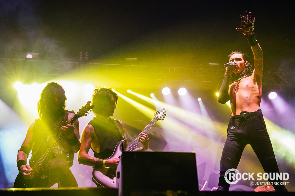 Black Veil Brides, Vans Warped Tour UK, October 18 // Photo credit: Justine Trickett