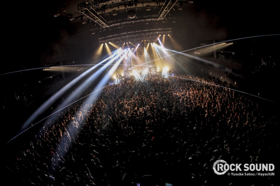 Over in Japan, Coldrain played to a crowd THIS big...