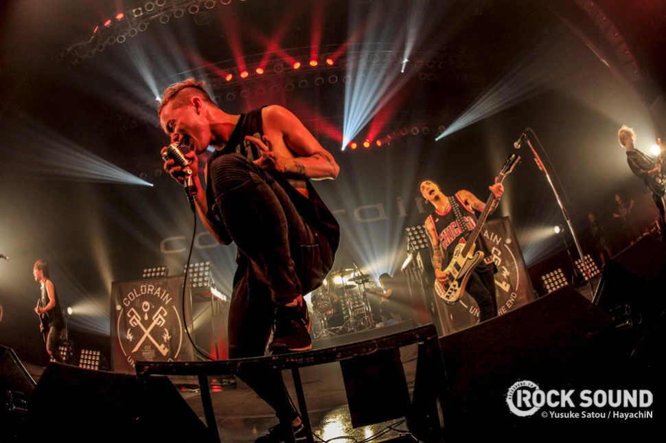 Coldrain on tour in Japan, 2014