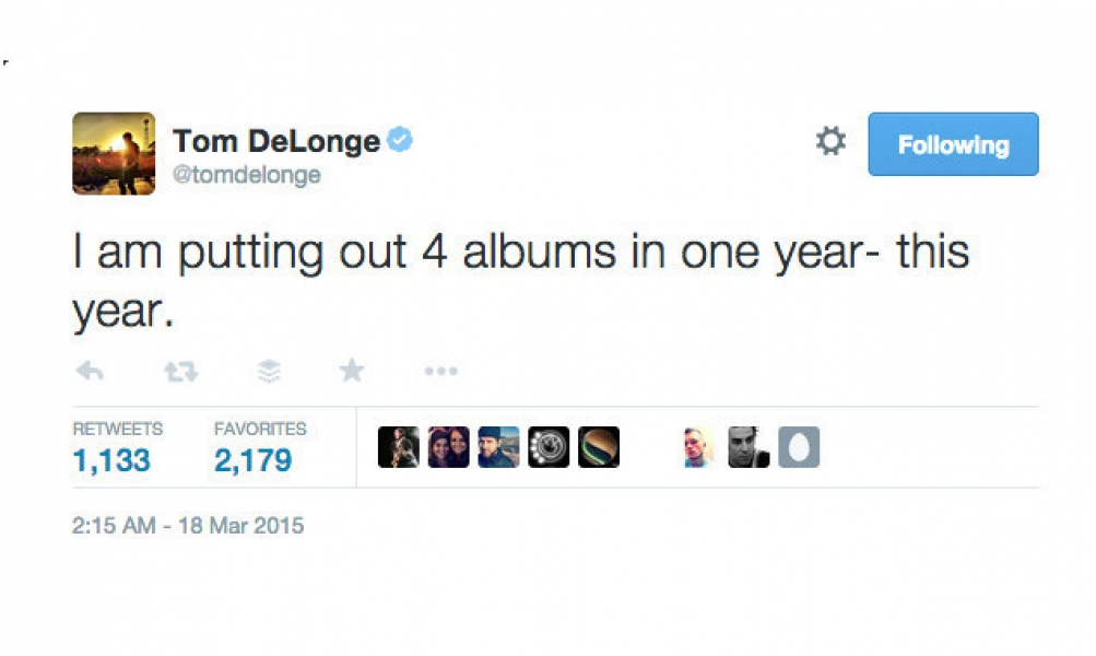 Tom DeLonge Is Releasing Four Albums This Year, Apparently.
