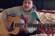 Watch Frank Iero Play Acoustically In His Room To Raise Money For Charity