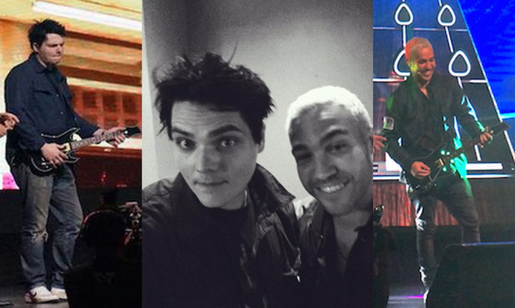 Gerard Way And Pete Wentz Helped Launch The New Guitar Hero Game Yesterday