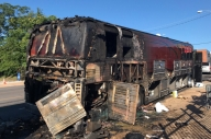 Hundredth And Being As An Ocean's Bus Was Destroyed By Fire