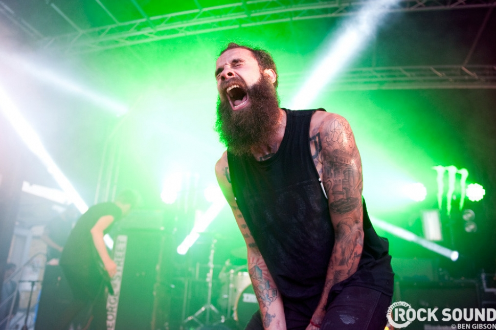 letlive. were there, too. Here's Jason Aalon Butler giving it some angry tiger face...