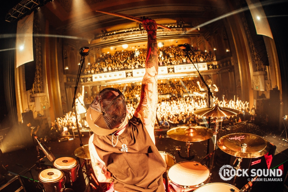 Pierce The Veil perform on the Pomona date of The World Tour / November 2014