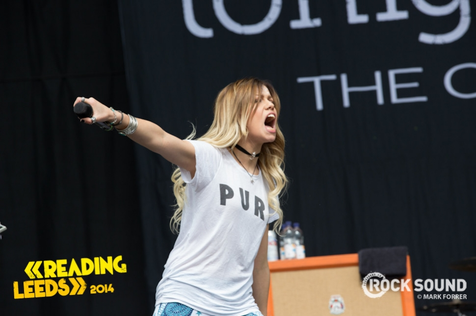 Tonight Alive, Leeds Festival, August 22, 2014.