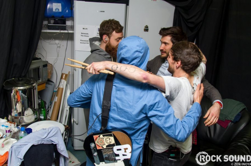 ...while closer to home, four lads called Twin Atlantic had a huddle...