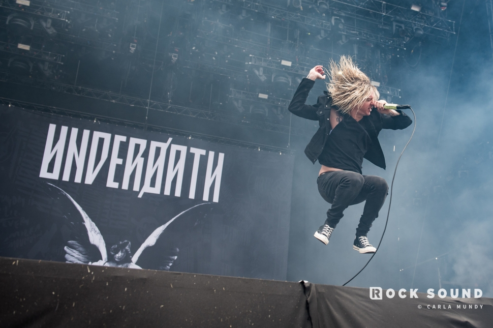 Underøath, Download Festival, June 16 // Photo: Carla Mundy