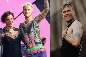 LISTEN: Machine Gun Kelly, Yungblud & The Used's Bert McCracken Team Up For 'body bag'